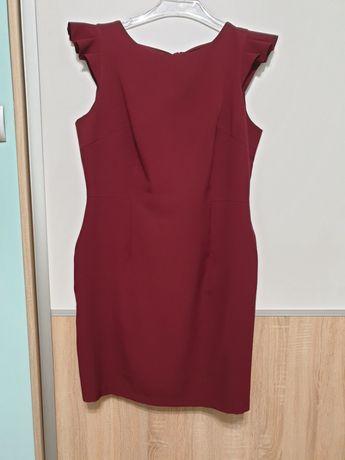 Sukienka bordowa 44