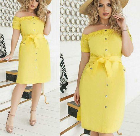 Стильное летнее платье  48 р, 50-52 .