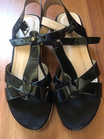 Sandalias Senhora pretas