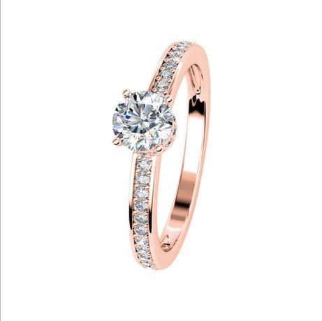Anel com cristais Swarovsky Elise folheado a ouro rosa