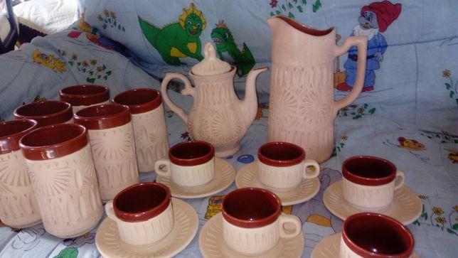 Jogo de café e chá em ceramica