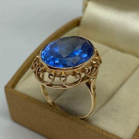 Piękny złoty pierścień p585 r20