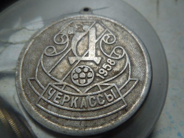 значок -кулон фудбольноі команди Дніпро -Черкаси 1958року