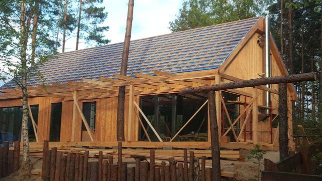 Domy szkieletowe, domy drewniane, konstrukcje drewniane, cieśla