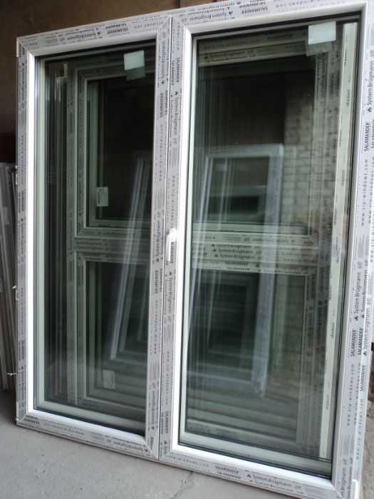 Okna tarasowe pcv  -sz177x210w-  ruchomy słupek