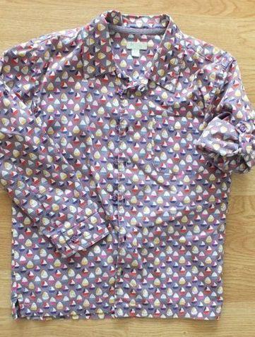 letnia koszula długi rękaw 122 128 żaglówki