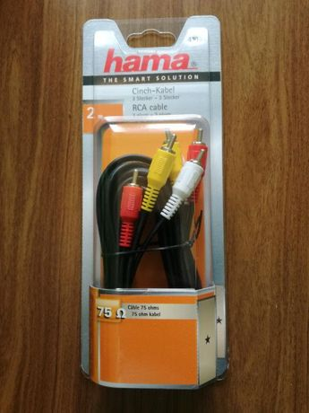 Hama cinch-kabel 2M Nowy