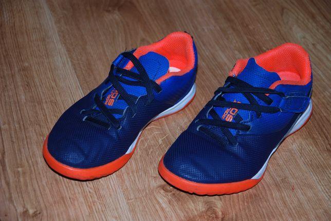 Buty korki do piłki nożnej Agility 500 HG dla dzieci na rzepy 32