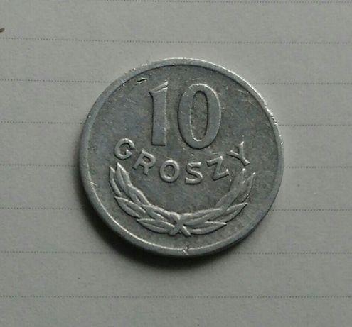 Moneta 10 gr z 1966r - PRL