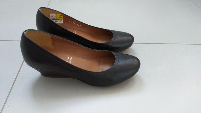 Buty skórzane czarne, rozmiar 36