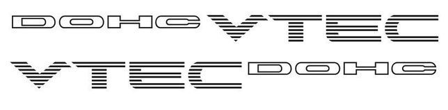 Autocolante Honda Dohc Vtec (par) / track day / pista / colar