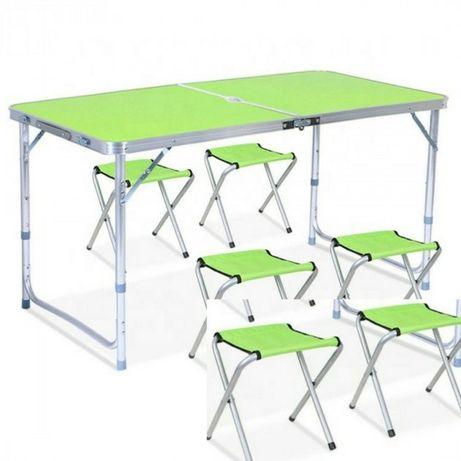 Складной стол для пикника 120 х +60 см + 4 стула
