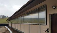 Okna przesuwne oborowe nawiewne inwentarskie kurtyny oborowe