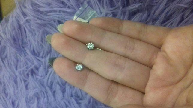 Сережки серебро 925 пробы