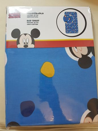 Nowe prześcieradło Mickey Mouse,Minnie Mouse Rozm.90x200 Miki