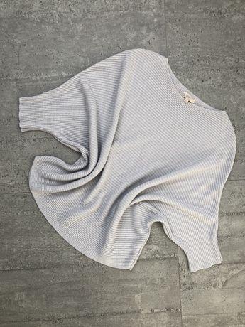 Sweter sweterek damski a la motyl srebrna nitka srebrny nienoszony. Ro