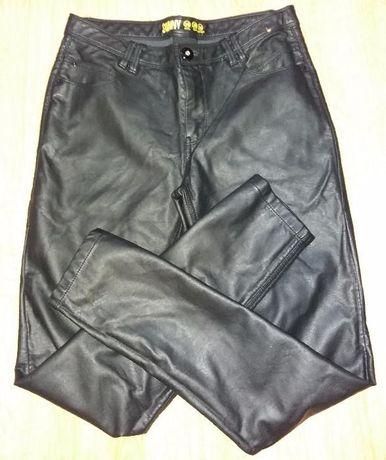 Spodnie skórzane czarne skóra skinny rurki fit Denim & Co 36 38 S / M