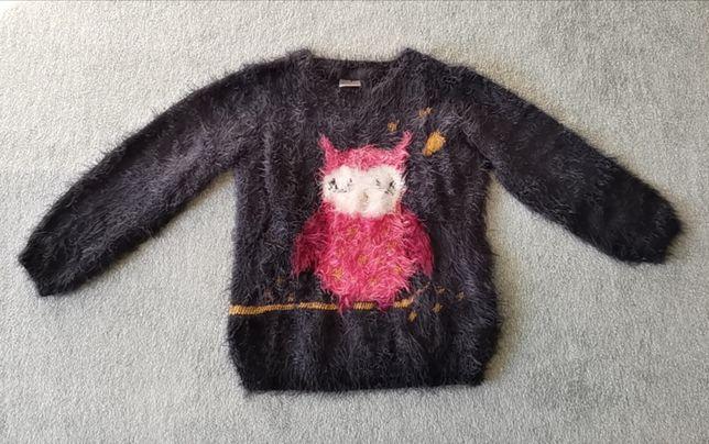 Sweter sowa, dziewczęcy r. 110