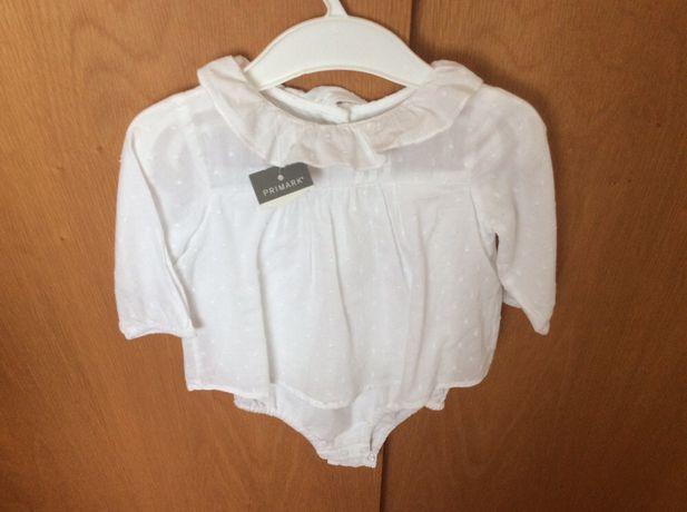 Blusa/Body com golinha (3/6 meses) Nova com etiqueta