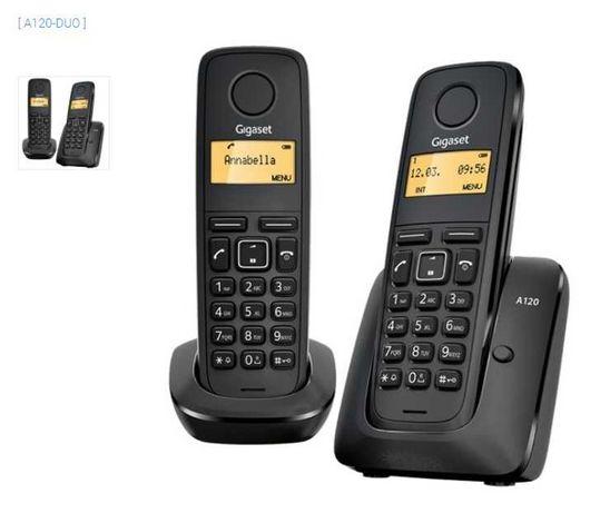 Telefones Digitais (usados) s/ Fios (Rede Fixa) Gigaset A120 DUO