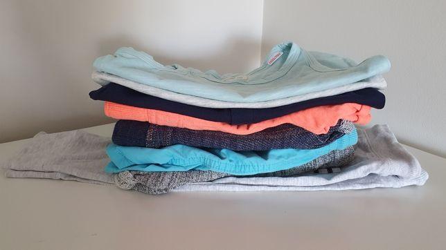 Letnie ciuszki - top, tshirt, spodenki- ZARA, NEXT, MANGO, HM- r.80