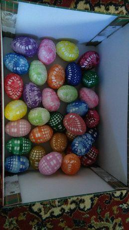 Jajka ręcznie szydełkowane