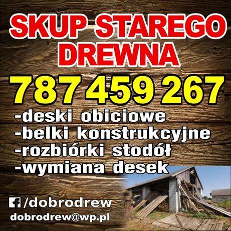 Skup stodół rozbiórki, wymiana desek skup starego drewna stodoly