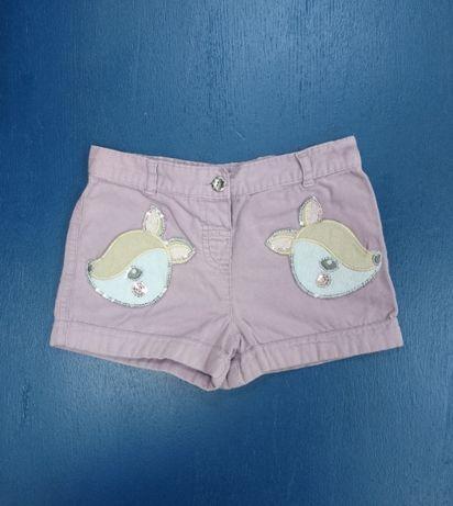 Детские вельветовые шортики для девочки TU 2-3 года с аппликацией Бемб