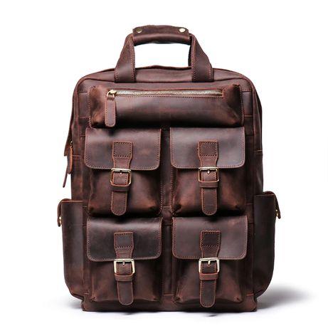 Кожаный рюкзак ручной работы. Натуральная кожа Crazy Horse