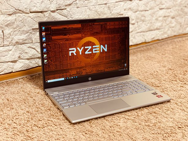 Ноутбук 1кг 850грам вес HP 15.6 IPS Ryzen 7-3700U  16ГБ SSD512 vega 10