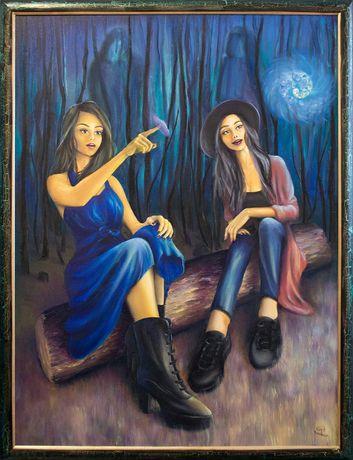 """Картина """"Ведьмы начинающие"""". Подарок на Хэллоуин"""