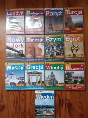 Płyty DVD podróże Grecja Włochy Hiszpania Egipt Tunezja Londyn Paryż