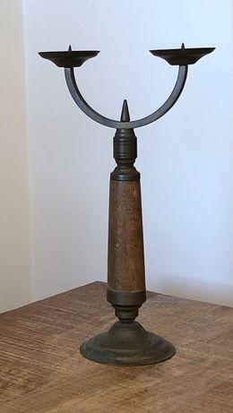 Stary mosiężny świecznik mosiądz Miloo / Almi Decor / Zara Home