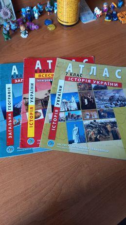 Атлас Географія, Історія 7, 6 клас