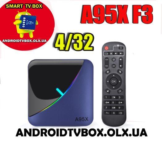 Android Smart TV box A95X F3 Air S905X3 4/32 4/64 тв приставка