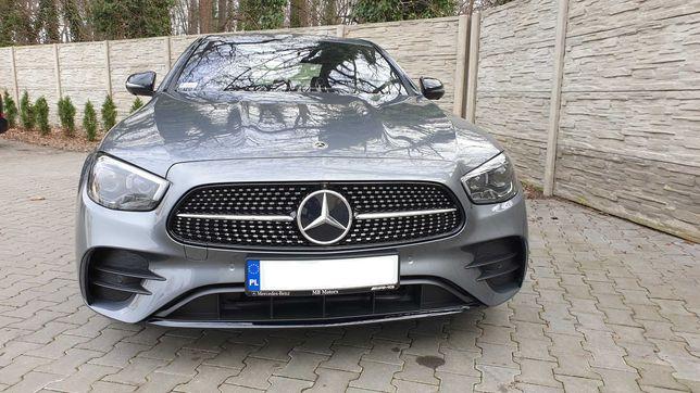 Auto Samochód do Ślubu. Mercedes E W213 AMG Edycja Limitowana 2021