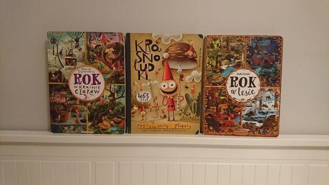 Zestaw 3 książek, Rok w lesie, Rok w krainie czarów, Krasnoludki