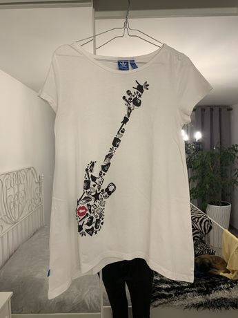 Biała koszulka Adidas t-shirt Adidas