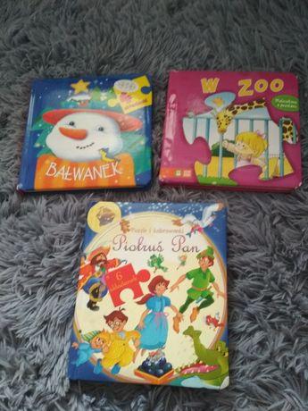 Zestaw książeczek puzzlowych 3szt