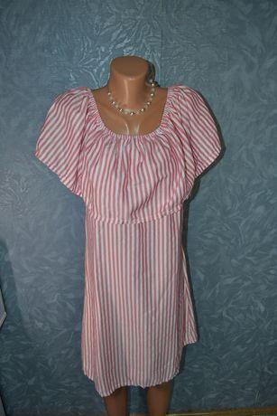 Летнее лёгкое платье в полоску