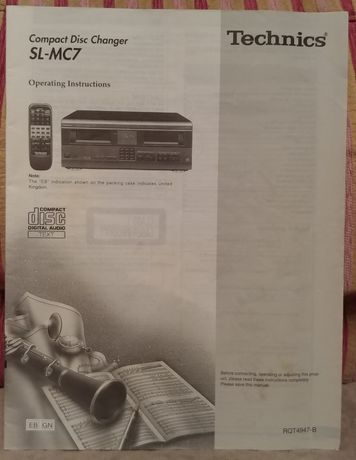 Instrukcja Technics SL-MC7 zmieniarka CD 111 płyt