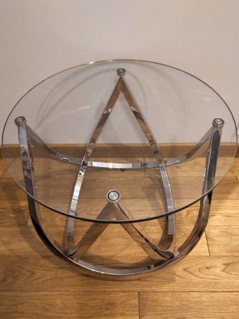 Szklany stolik okrągły 60 cm średnica