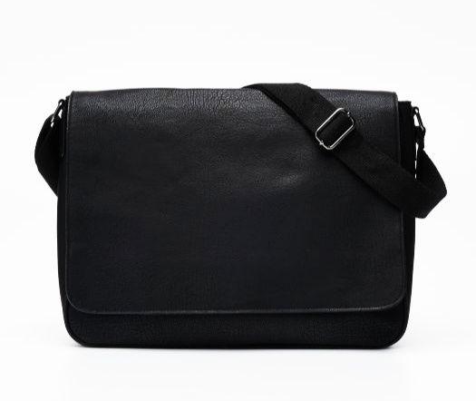 Czarna torba listonoszka Reserved