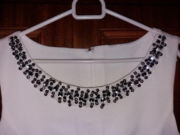 BODYFLIRT nowa sukienka biel wełny 40/42