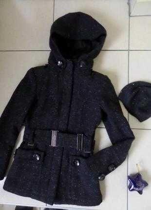 Zara куртка пальто утепленне s