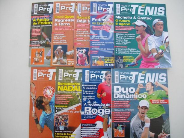 9 Revistas: Pro Ténis (colecção completa)