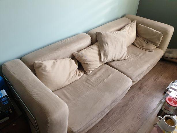 kanapa ikea sofa rozkładana duża wypoczynek podnóżek