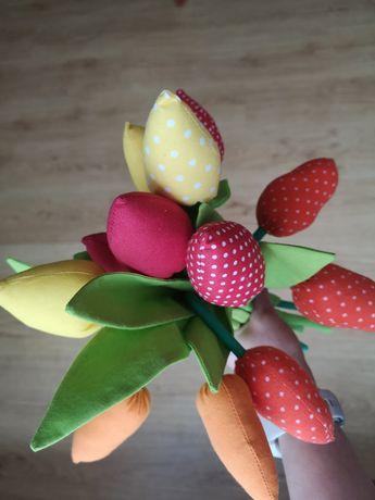 Tulipany z materiału 12 sztuk