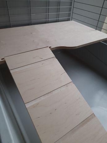 Półka ze schodkami do klatki 100 cm