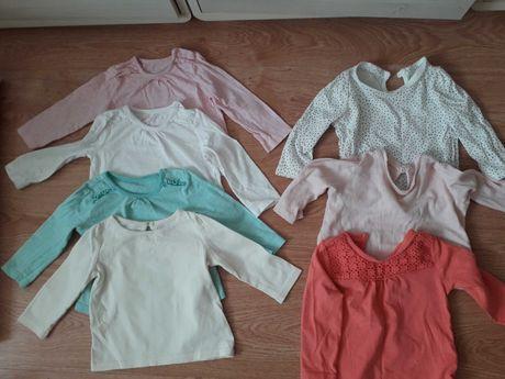 Bluzki bluzeczka paka zestaw F&F 68 długi rękaw